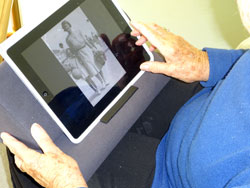 iPad used in Reminiscence session