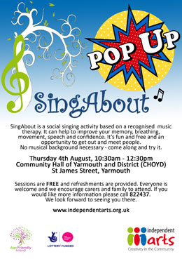 SingAbout pop-up Yarmouth