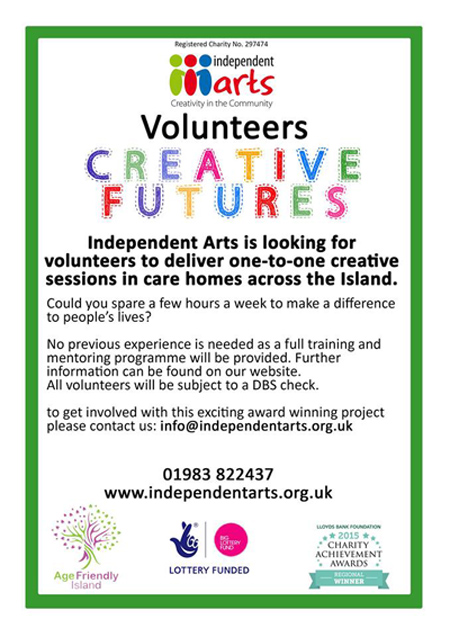 Creative Futures Volunteer ad