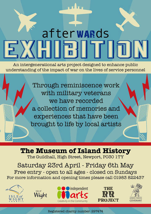 AfterWARds exhibition poster