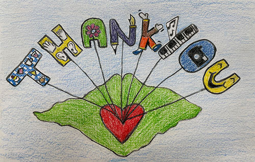 Winning thank you card competition entry by Jackie Homes