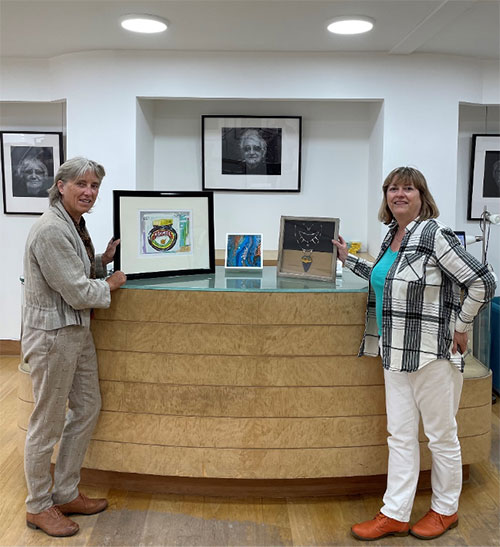Lord-Lieutenant of the Isle of Wight Susie Sheldon and Lisa Gagliani, CEO of Independent Arts