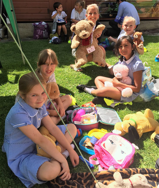 Henry Bear's picnic at Cornelia Heights